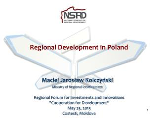 Regional Development in Poland