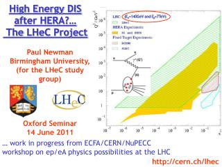 High Energy DIS after HERA?…   The  LHeC  Project
