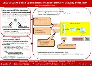 SLEDE: Event-Based Specification of Sensor Network Security Protocols*