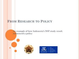 From Research to Policy