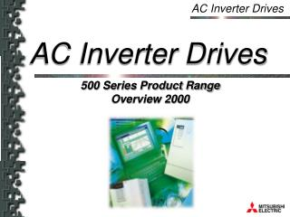 500 Series Product Range Overview 2000