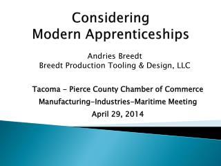 Considering  Modern  Apprenticeships