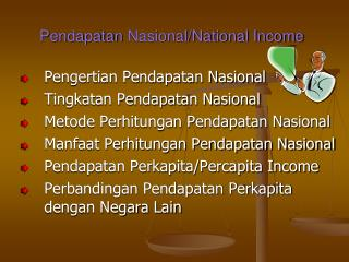 Pendapatan Nasional /National Income