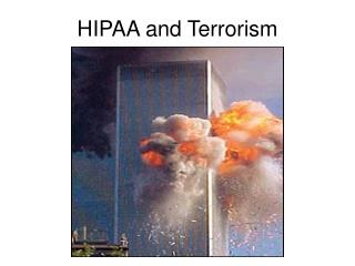 HIPAA and Terrorism