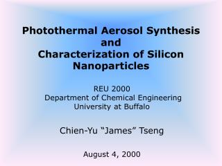 Photothermal Aerosol Synthesis and Characterization of Silicon Nanoparticles