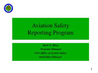 Aviation Safety  Reporting Program