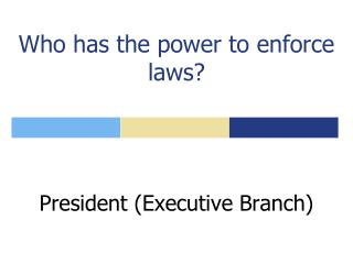 Who has the power to enforce laws