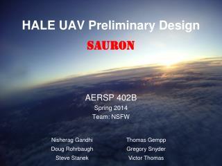 HALE UAV Preliminary Design