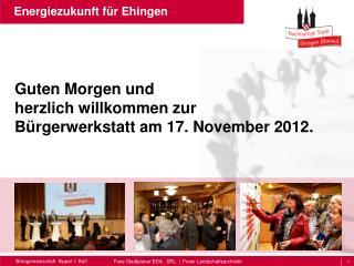 Energiezukunft f�r Ehingen