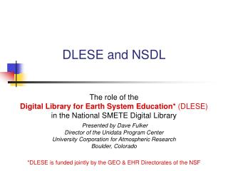 DLESE and NSDL