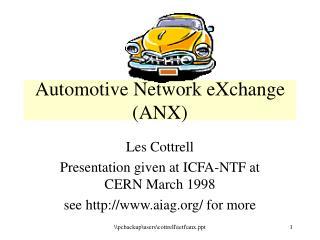 Automotive Network eXchange ANX