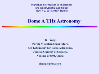 Dome A THz Astronomy