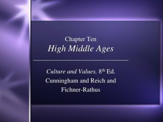 Chapter Ten High Middle Ages