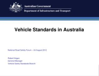 Vehicle Standards in Australia