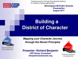 Building a   District of Character