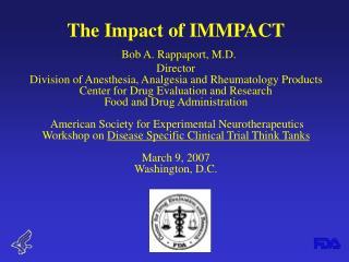 FDA and IMMPACT