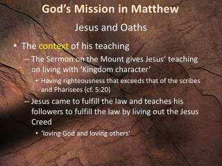 Jesus and Oaths