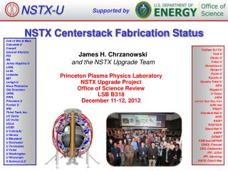 NSTX Centerstack Fabrication Status