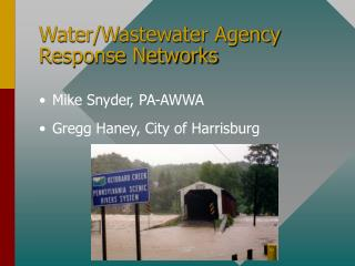 Water/Wastewater Agency Response Networks