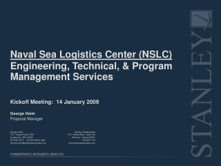 Naval Sea Logistics Center (NSLC)   Engineering, Technical, & Program Management Services