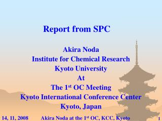Report from SPC