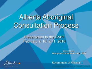 Alberta Aboriginal Consultation Process