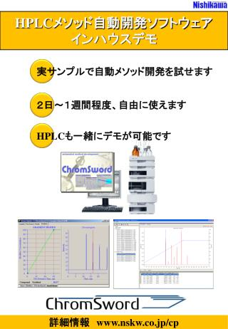 HPLC メソッド自動開発ソフトウェア インハウスデモ
