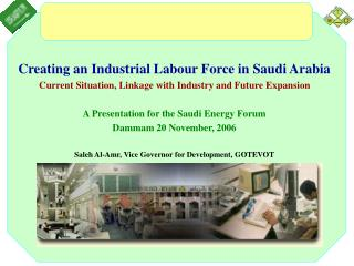 Creating an Industrial Labour Force in Saudi Arabia