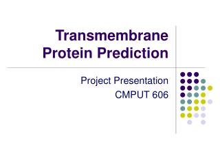 Transmembrane Protein Prediction