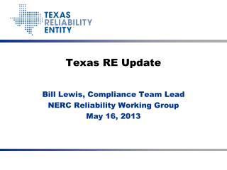 Texas RE Update