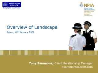 Overview of Landscape   Ryton, 16 th  January 2008