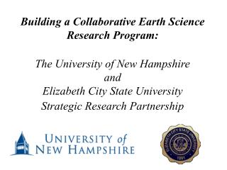Building a Collaborative Earth Science Research Program: