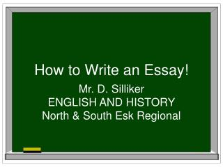 How to Write an Essay!
