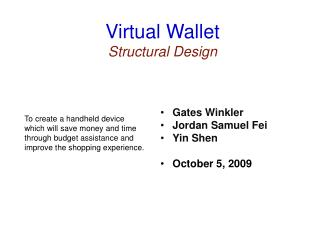 Virtual Wallet Structural Design