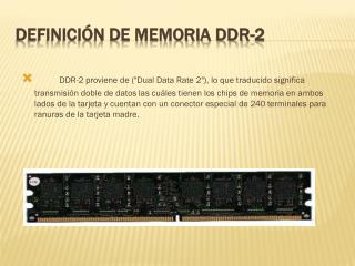 Definición de memoria DDR-2