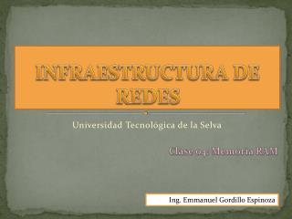 INFRAESTRUCTURA DE REDES