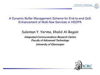A Dynamic Buffer Management Scheme for End-to-end QoS Enhancement of Multi-flow Services in HSDPA