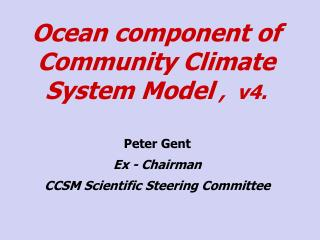 Ocean component of Community Climate System Model  ,  v4.