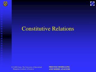Constitutive Relations