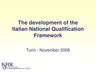 The development of the  Italian National Qualification Framework