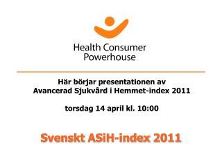 Svenskt  ASiH-index  2011