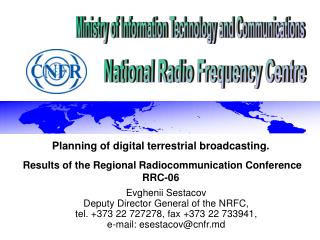 Planning  of  digital terrestrial broadcasting .