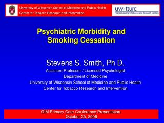 GIM Primary Care Conference Presentation  October 25, 2006