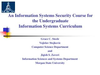 An Information Systems Security Course for the Undergraduate  Information Systems Curriculum