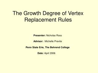 The Growth Degree of Vertex Replacement Rules