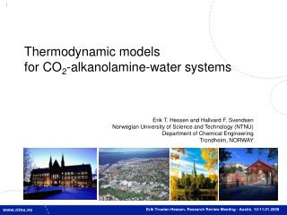 Thermodynamic models for CO 2 -alkanolamine-water systems