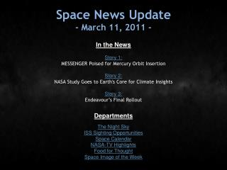 Space News Update - March 11, 2011 -