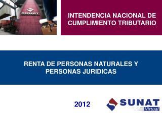 RENTA DE PERSONAS NATURALES Y PERSONAS JURIDICAS
