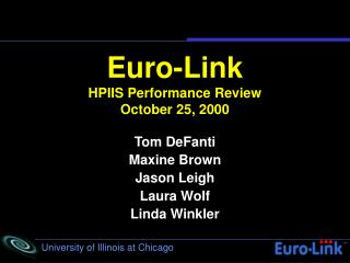 Euro-Link HPIIS Performance Review October 25, 2000