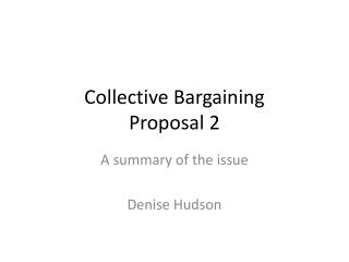 Collective Bargaining Proposal 2